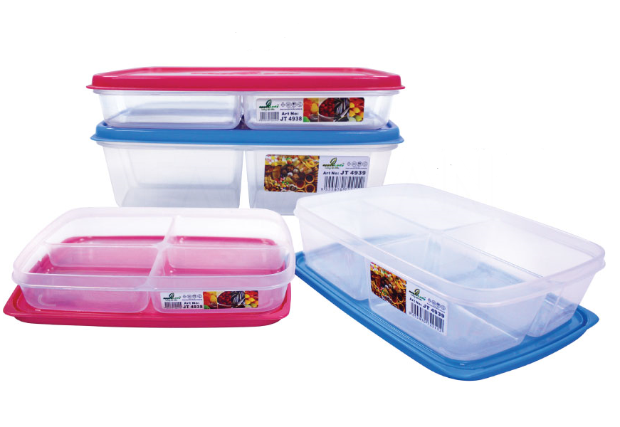 4 Compartments Food Container